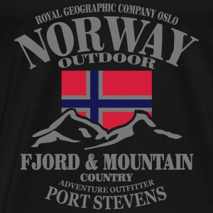 Norway - Fjord & Mountain Tops - Men's Premium T-Shirt