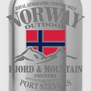 Norway - Fjord & Mountain Long Sleeve Shirts - Water Bottle