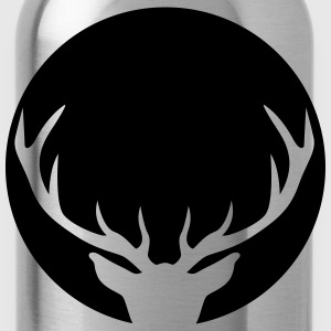 Stag in a circle T-Shirts - Water Bottle