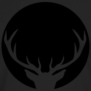 Stag in a circle T-Shirts - Men's Premium Longsleeve Shirt