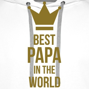 Best Papa in the world ! Caps & luer - Premium hettegenser for menn