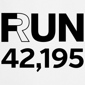 Fun / Run 24,196 (Marathon Distance) T-shirts - Forklæde