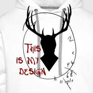 Hannibal - This is my design - Sweat-shirt à capuche Premium pour hommes