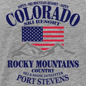 Colorado Ski Resort - United States Long Sleeve Shirts - Men's Premium T-Shirt
