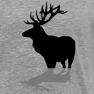 deer - antler - hunting - hunter Long sleeve shirts - Men's Premium T-Shirt