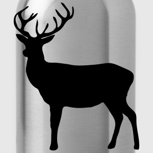 deer - antler - hunting - hunter Long Sleeve Shirts - Water Bottle