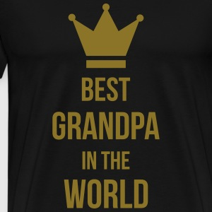 Best Grandpa in the world !  Aprons - Men's Premium T-Shirt