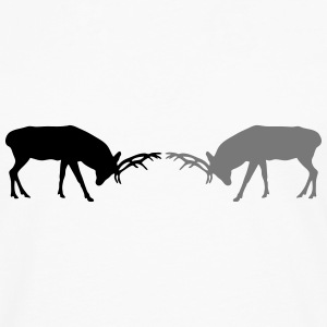 deer - antler - hunting - hunter T-Shirts - Men's Premium Longsleeve Shirt