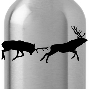 deer - antler - hunting - hunter T-Shirts - Water Bottle