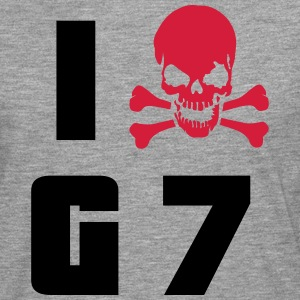 I hate G7 Skull T-Shirts - Men's Premium Longsleeve Shirt