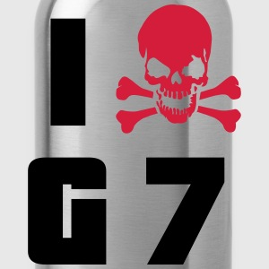 I hate G7 Skull T-Shirts - Water Bottle