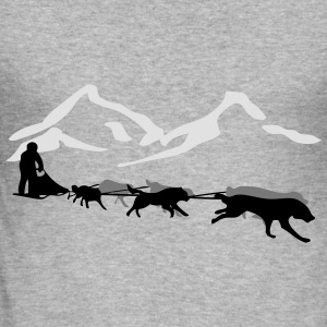 Husky - dog sled - Yukon Quest - Alaska  Gensere - Slim Fit T-skjorte for menn