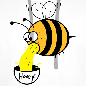 making of honey - bee :-) T-shirts - Premiumluvtröja herr