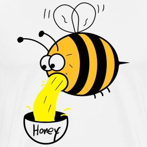 making of honey - bee :-) Förkläden - Premium-T-shirt herr