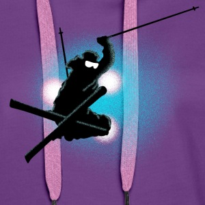 freestyle ski T-Shirts - Women's Premium Hoodie