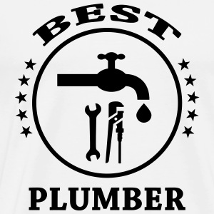 Best Plumber  Aprons - Men's Premium T-Shirt