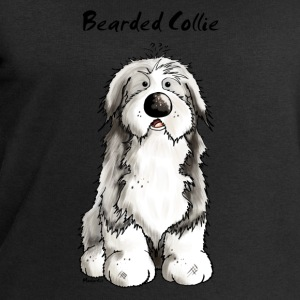 Cute Bearded Collie Dog T-Shirts - Men's Sweatshirt by Stanley & Stella