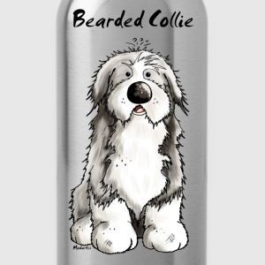 Cute Bearded Collie Dog T-Shirts - Water Bottle