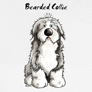 Söt Bearded Collie - Bearded Collies - Hundar T-shirts - Basebollkeps