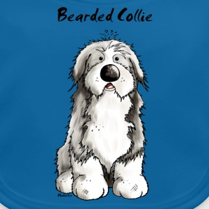Mignon Bearded Collie -  Colley Barbu Tee shirts - Bavoir bio Bébé