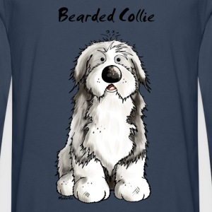 Mignon Bearded Collie -  Colley Barbu Tee shirts - T-shirt manches longues Premium Homme