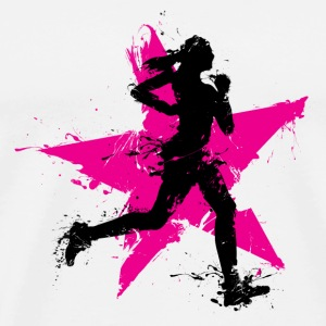 runner female with star Andet - Herre premium T-shirt