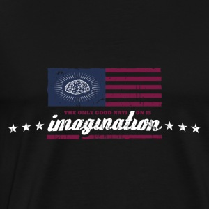 The only good nation is imagination Langarmshirts - Männer Premium T-Shirt