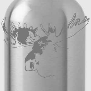 moose - elk - hunting - hunter T-Shirts - Water Bottle