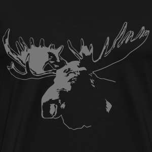 moose - elk - hunting - hunter  Aprons - Men's Premium T-Shirt