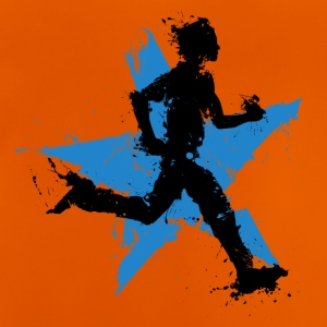 runner male with star Tee shirts - T-shirt Bébé