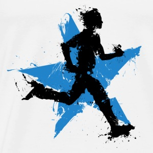 runner male with star Tops - Men's Premium T-Shirt