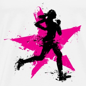 runner female with star Toppe - Herre premium T-shirt