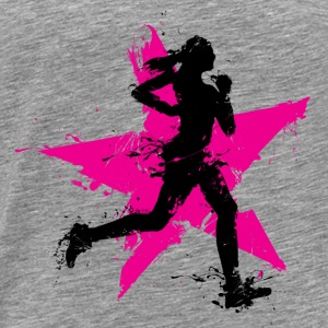 runner female with star Débardeurs - T-shirt Premium Homme