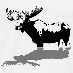 moose - elk - hunting - hunter Sweaters - Mannen Premium T-shirt