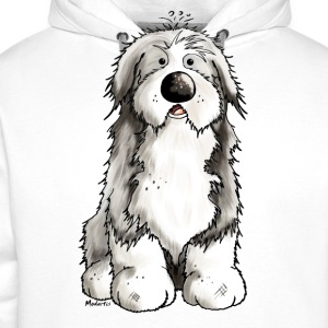 Funny Bearded Collie  Aprons - Men's Premium Hoodie