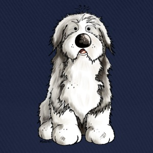 Rolig Bearded Collie - Bearded Collies - Hundar T-shirts - Basebollkeps