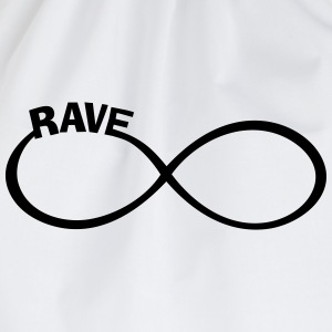 endless RAVE infinity Dance + Musik Party Outfit T-Shirts - Turnbeutel