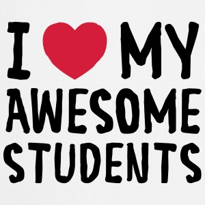 I Love (Heart) My Awesome Students T-skjorter - Kokkeforkle