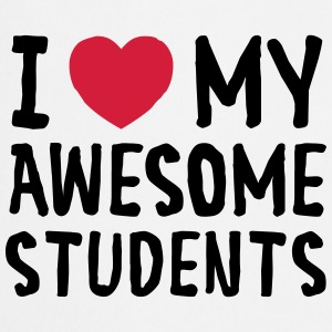 I Love (Heart) My Awesome Students Tank Tops - Forklæde