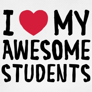 I Love (Heart) My Awesome Students Tank Tops - Gorra béisbol