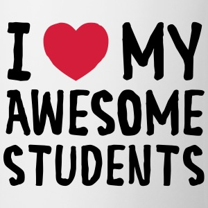 I Love (Heart) My Awesome Students T-skjorter - Kopp