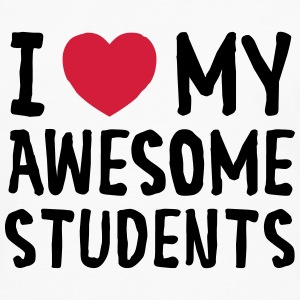 I Love (Heart) My Awesome Students T-shirts - Herre premium T-shirt med lange ærmer