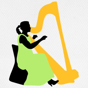 female_harp_player_122014_a_3c T-Shirts - Baseballkappe