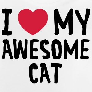 I Love (Heart) My Awesome Cat T-Shirts - Baby T-Shirt