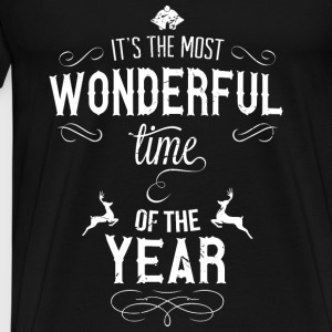 most_wonderful_time_of_the_year_w Toppe - Herre premium T-shirt