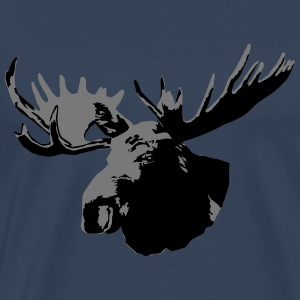 moose - elk - hunting - hunter Long Sleeve Shirts - Men's Premium T-Shirt
