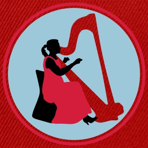 female_harp_player_122014_c_3c T-Shirts - Snapback Cap