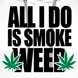 Smoke Weed  Tee shirts - Sweat-shirt à capuche Premium pour hommes