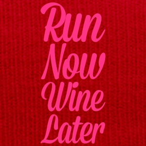 Run Now, Wine Later  T-Shirts - Winter Hat