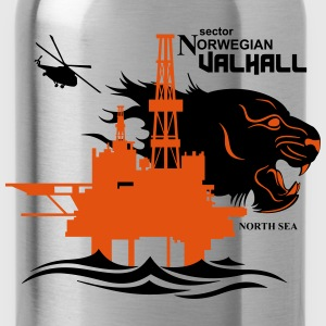Valhall Oil Rig North Sea Tiger 2 Norway - Water Bottle